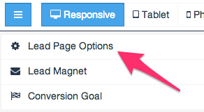 Leadpages Conversion Tracking Step 1