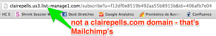 Example of a Mailchimp Domain