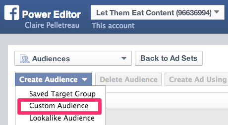 How to Create a Custom Audience Facebook Ads
