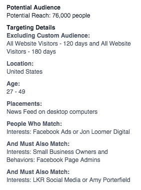 Facebook ads target your fans