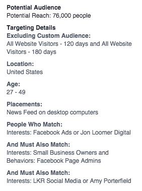 Facebook ads target your fans