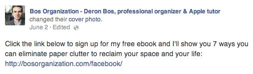 Deron Bos Facebook Ad Copy