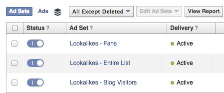 Lookallike Ad Sets - Facebook Ads
