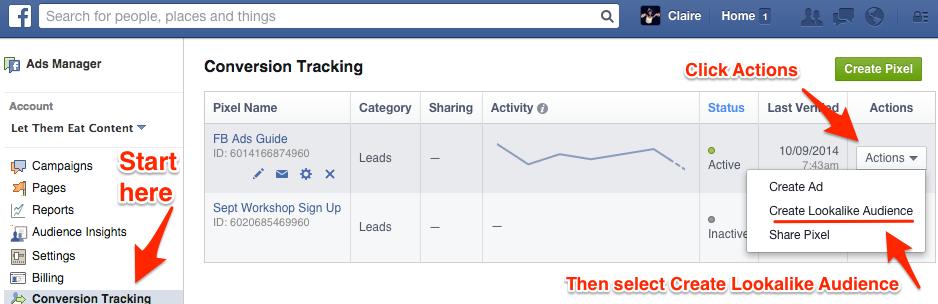 Create Lookalike Audience - Facebook Ads
