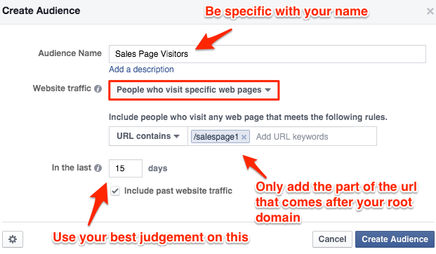 WCA Sales Page Visitors - Facebook Ads