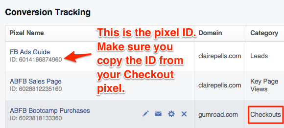 Facebook Conversion Tracking Pixel ID