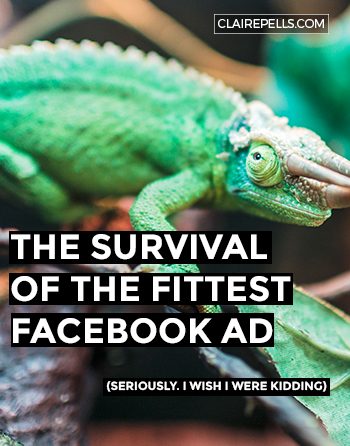 Survival of the Fittest Facebook Ad
