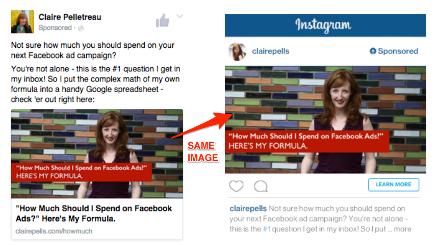 Instagram Ads: Compare Image Sizes