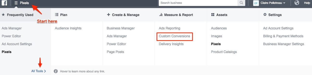 create custom conversions