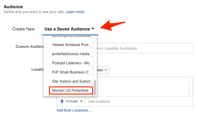 Save Facebook Ad Audiences